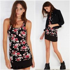 NWT floral print racerback tank Available in sizes Small, Medium and Large Tops Tank Tops