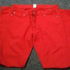 Black asphalt jeans size 13 Red jeans tapered. Size 13. Black asphalt. Cotton and spandex.  Very good  condition. black asphalt  Jeans Skinny