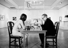 Marcel Duchamp Playing Chess with Eve Babitz, 1964