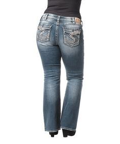 This Indigo Medium Wash Pioneer Bootcut Jeans - Women & Plus by Silver Jeans Co. is perfect! #zulilyfinds