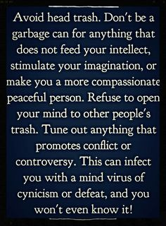 Avoid head trash..