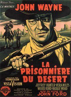 John Wayne - Affiche N°3 - La Prisonnière du désert - 1956
