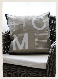 Pillow-- bet I could do this myself fairly easily! hurray for easy but cute!(: