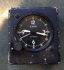 VINTAGE WITTNAUER 8 DAY AIRPLANE, AIRCRAFT COCKPIT DASH CLOCK .. RAT ROD COOL