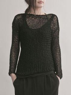 WOMEN CATEGORY :: CLOTH :: TOPS :: KNIT :: ISABEL BENENATO glitter lowgauge knit / BLACK