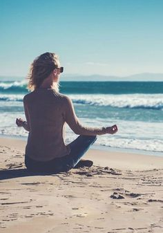 Beachside meditation will calm your mind, body and soul.