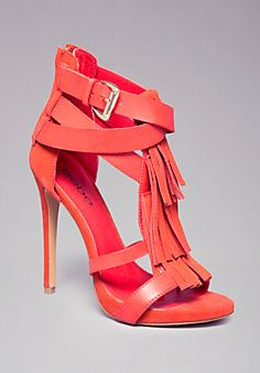 Isella Fringe Sandals I'm in love with these shoes!