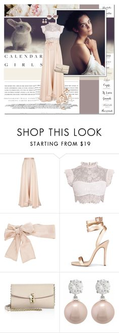 """""""♡"""" by lifestyle-ala-grace ❤ liked on Polyvore featuring Kerr®, Lanvin, Valentino, Dolce&Gabbana, Jankuo, Linda Farrow, soft, maxiskirt, lace and sunglasses"""