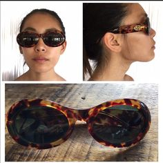 Gucci 90s sunglasses Vintage 90s tortoiseshell with gold G on the side Gucci Accessories Sunglasses