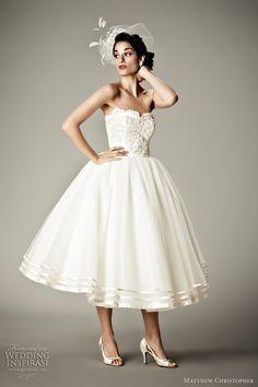 matthew christopher 2012 arabesque tea length wedding dress