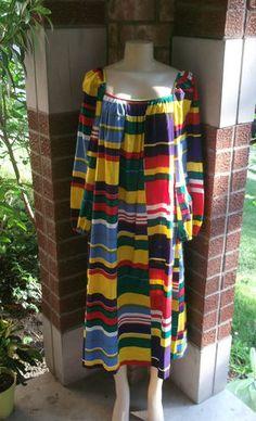 Vintage 1973 Marimekko Suomi Finland Cotton Dress