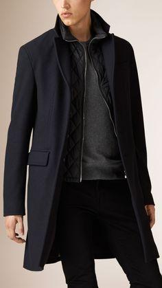 Mantel aus Kaschmirwollmelton mit Futter   Burberry