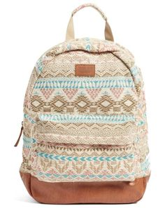 constellation jacquard backpack by Rip Curl. Faux-leather detailing adds rich contrast to this jet-set-ready backpack crafted from a beautiful geometric jacquard ...