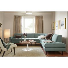 """Room & Board - Reese 115x114"""" Three-Piece Sectional with Right-Back Sofa"""