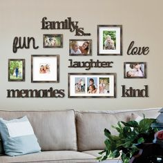Nealy 13 Piece Collage Picture Frame Set - Dekoration - Pictures on Wall ideas Picture Frame Crafts, Picture Frame Sets, Collage Picture Frames, Picture Frame Decorating Ideas, Photo Collages, Diy Picture Frames On The Wall, Collage Ideas, Decorating With Pictures, Collage Pictures On Wall