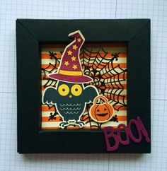Howl O Ween Treats Shadow Box Card Stampin Up UK Halloween fun