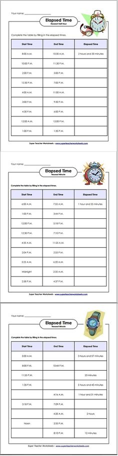 Adding and Subtracting Time Worksheets--MAKE YOUR OWN WORKSHEETS ...
