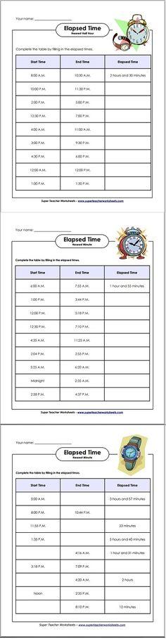 Number Line Worksheets time number line worksheets : Worksheet for practicing elapsed time. Students use the number ...