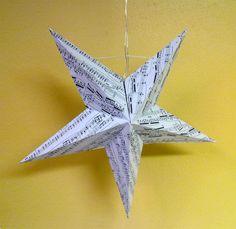 Tiltaltti Shop: Tee itse joulutähti kierrätyspaperista