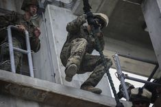 Practice makes perfect: Marines fast-rope Rappelling, Marine Corps, Marines, Japan Japan, Okinawa Japan, The Unit, Landing, Vests, Weapons