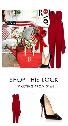 """""""red lovers"""" by ainzme ❤ liked on Polyvore featuring Coast, Christian Louboutin and Cathy's Concepts"""