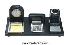 Desk Organizer With Pen Holder WAUSCBHB090560http://woodartsuniverse.com/catalog/product_info.php?products_id=474 #promotionalproducts #Woodendeskorganizer #MDFwood