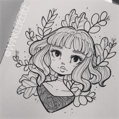 "2,019 aprecieri, 9 comentarii - Daily Drawings by Kirsten W. (@winklebeebee) pe Instagram: ""November 3rd #dailydrawing [Grow]. So busy. So tired. So much hand pain 😪 #artstagram #illustration…"""