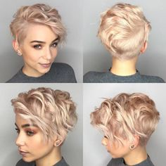 10 latest short haircut for fine hair and stylish short hair color trends - Madame Frisuren - cheveux Latest Short Hairstyles, Haircuts For Fine Hair, Short Pixie Haircuts, Haircuts With Bangs, Bob Haircuts, Hairstyle Short, Undercut Short Hair, Wavy Pixie Haircut, Medium Hairstyles
