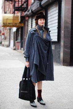 on the street...tenth ave, new york at thesatorialist.com 27.3.12