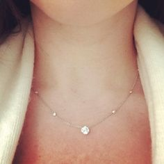 Every girl needs a simple diamond necklace.