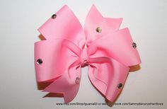 Pink Rhinestone Hair Bows by Sammy Banany's Hair Bows by iguania03, $5.99