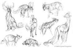 Qilin Sketches Part 1 by soulofwinter on deviantART