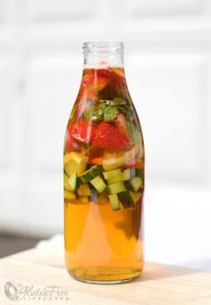 A non-alcoholic Pimm's Cup Mocktail—with no alcohol! So great for showers or really, any time.