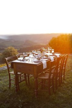 sunset dining | podere ciona