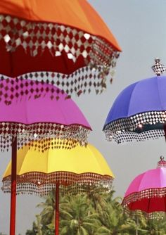 umbrellas - india .....this has given me the idea to make lamp shades from belly dancing outfits.....random but was the first thing that came into my head
