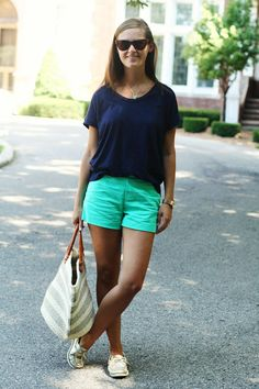 my everyday style: green navy!