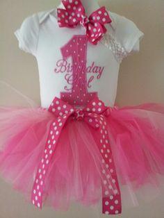 1st birthday Girl Tutu by spoiledkidzboutique on Etsy, $35.00