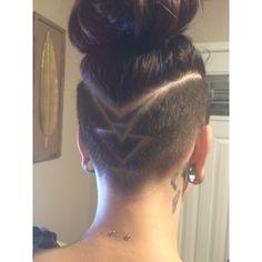 All sizes | tia_hairz | Flickr - Photo Sharing! Undercut Hairstyles, Pretty Hairstyles, Nape Undercut, Shaved Hair Designs, Hair Tattoos, Love Hair, Pixie Haircut, Hair Art, Hair Beauty