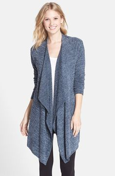 Barefoot Dreams® 'Bamboo Chic' Drape Front Cardigan (Nordstrom Exclusive) | Nordstrom