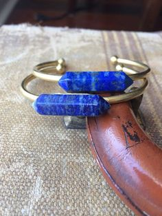 Foundry Pond Lapis Cuff by adjewelry on Etsy
