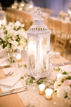 Simple and stunning candle centerpieces