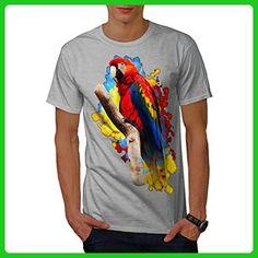 Parrot Bright Splash Men XL T-shirt | Wellcoda - Animal shirts (*Amazon Partner-Link)