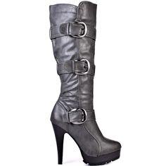 Kyra Boot - Grey  JustFab
