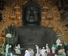 Traditional Great Buddha Dusting Held In Nara