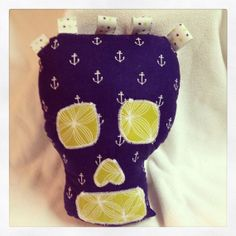 Sale  Plush Skull Toy for Babies Toddlers and by BeachBabyCouture, $15.00