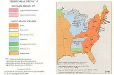 Territorial Growth Of The United States MAPS Pinterest - Map of us 1790