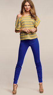 beaming blue legging pants