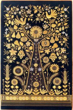 Torzhok Gold Embroidery, one of the kinds of Russian embroidery, is the folk art… Russian Embroidery, Crewel Embroidery, Embroidery Patterns, Indian Embroidery, Modern Embroidery, Beaded Embroidery, Russian Folk Art, Gold Work, Embroidery Techniques