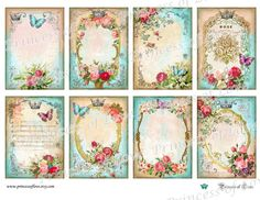 Victorian Tags | Printable Victorian Cards