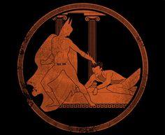 Batman and Joker in the Style of Greek Art by Nicholas Hyde